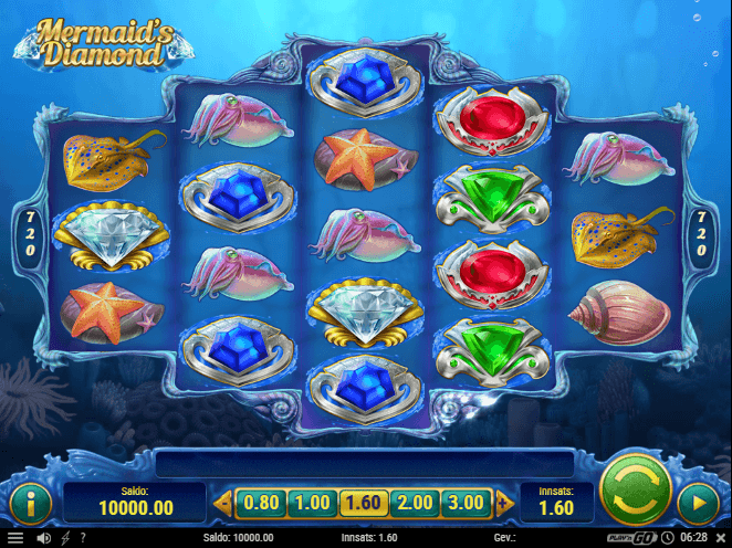 Mermaid's Diamond ny slot på nett